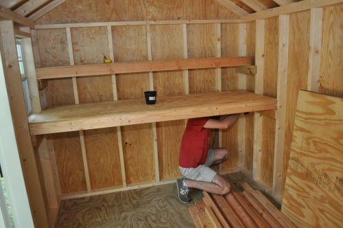 Diy shed shelves for gary pinterest for Diy shelves pinterest