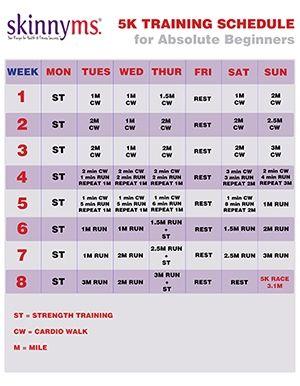 5K Running Schedule for Absolute Beginners
