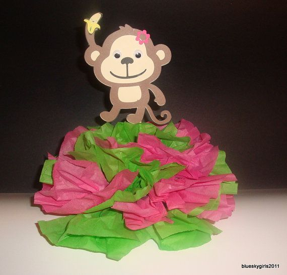 monkey baby centerpiece baby shower stuff pinterest
