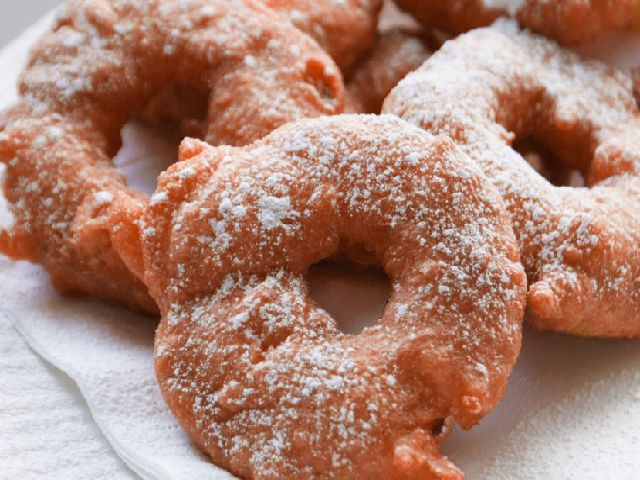 Apple Fritter Rings | Cocina dulce | Pinterest