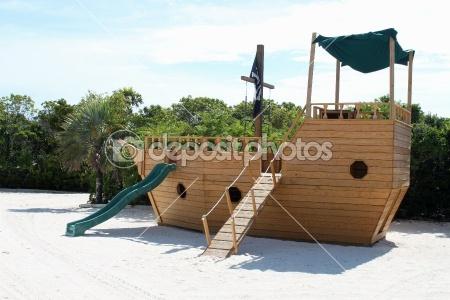 Pirate playground eli pinterest - Pirate ship wooden playground ...