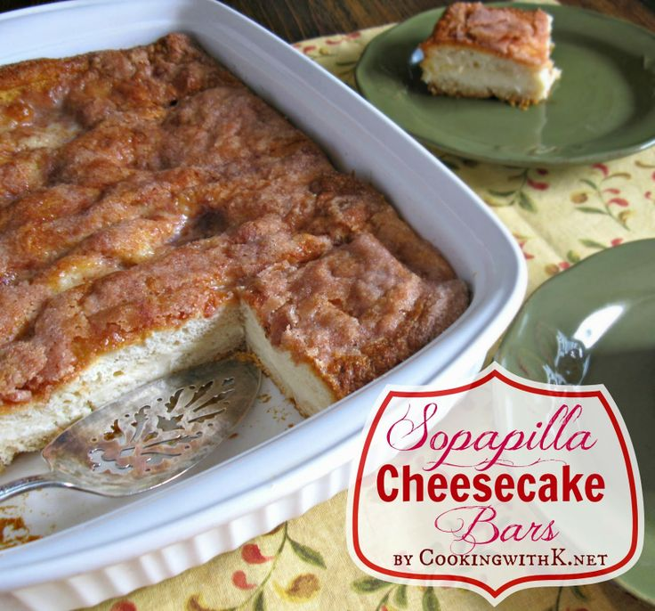 Sopapilla Cheesecake Bars - Fabulous dessert and fun for a brunch too.