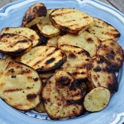 Grilled Potato Slices with Salt and Vinegar