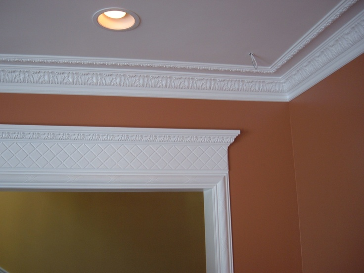 Two stage crown moulding and door casings male models Crown molding india