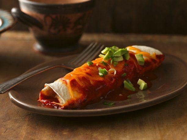Chile-Chicken Enchiladas, using Old El Paso Enchilada Sauce, Chopped ...