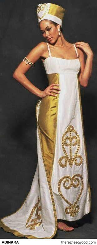 Adinkra symbols wedding dress african inspired weddings for African inspired wedding dresses