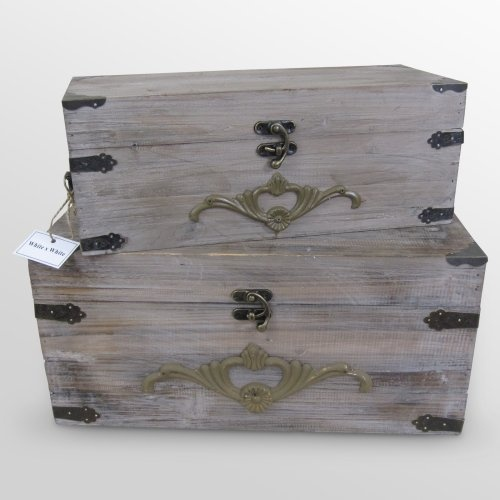 Find it at the Foundary - Set of 2 Wooden Boxes