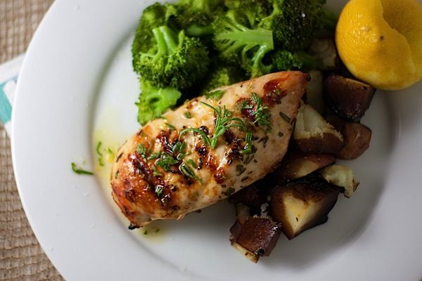 grilled chicken with lemon rosemary tarragon and mustard recipe lemon ...