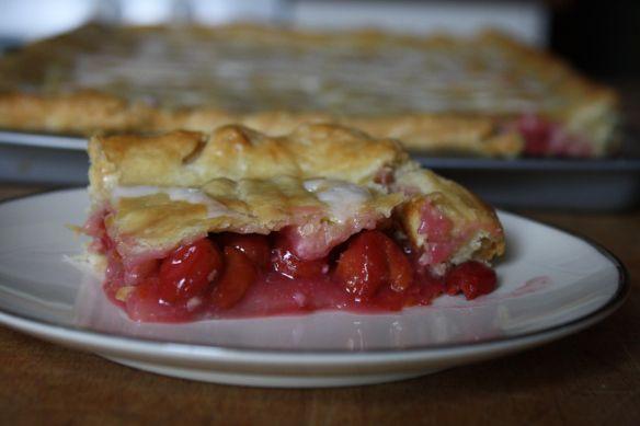 Sour Cherry Slab Pie - Sweet & Savory Kitchens