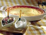 Meatless brunch casserole--love it with guacamole & salsa on the side