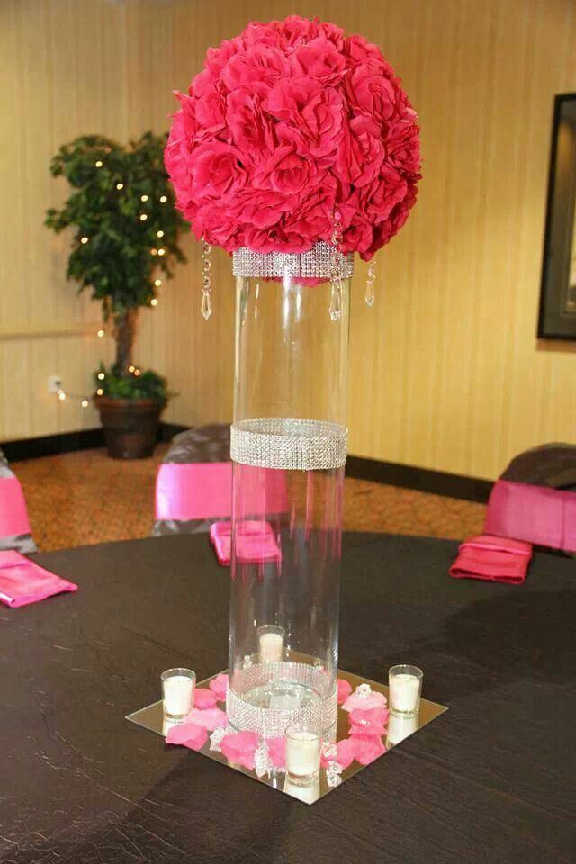 Elegant rose ball centerpiece a quot peek of our work