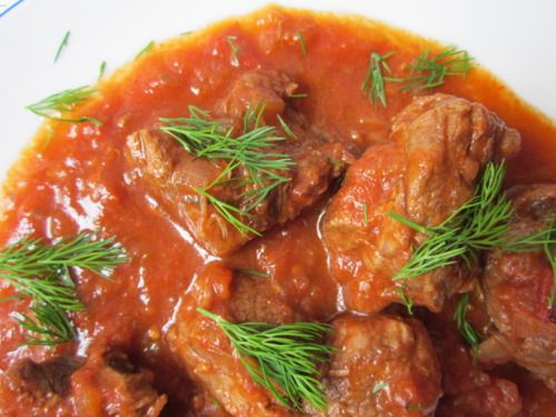 Braised Beef in Wine, Tomato and Cinnamon (Kokkinisto)