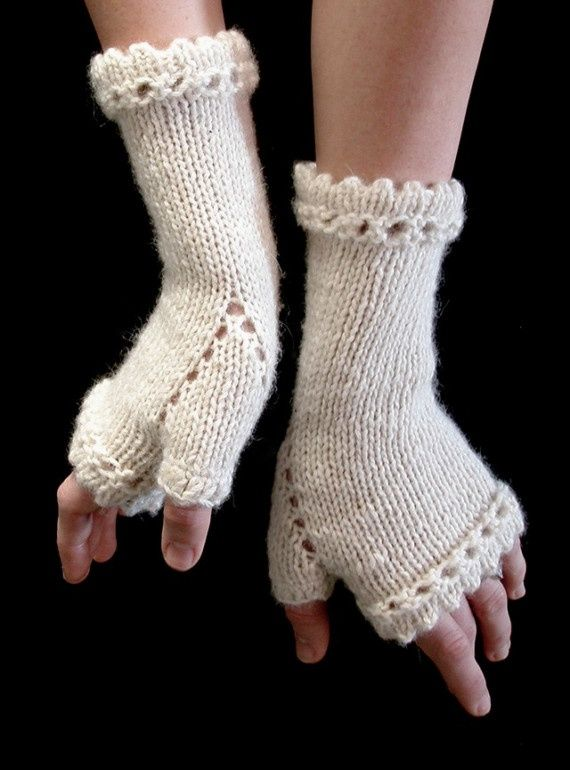Knitting Pattern Gauntlet Gloves : Victorian Gauntlets Knitting Pattern The Crafty Side of ...