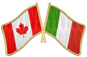 italian and canadian flag