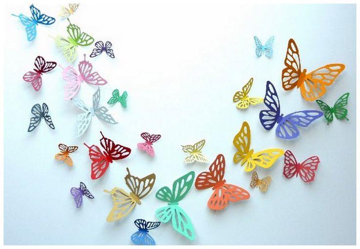Красивые бабочки из бумаги