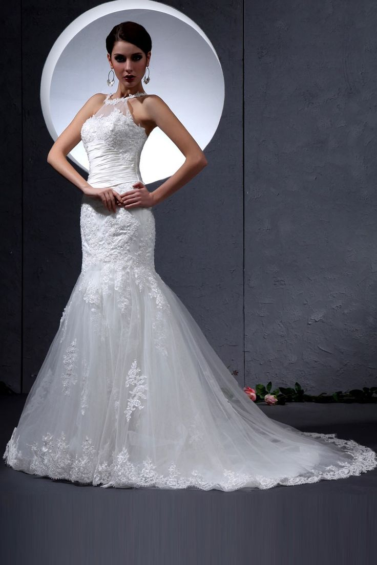 Lace mermaid wedding dress 2014 amazing wedding gowns for Pinterest dresses for wedding