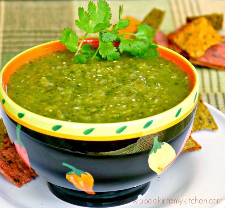 Roasted Tomatillo Salsa / Salsa Verde | A Peek into My Kitchen | Pint ...