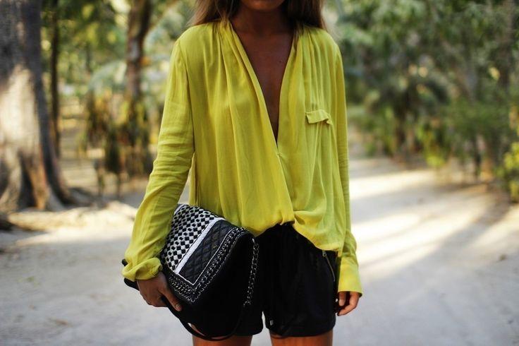 Zara Yellow Draped Blouse 25