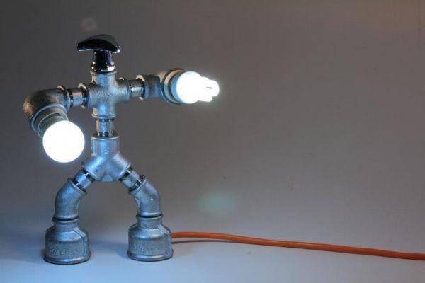 Lampade realizzate con tubi idraulici  Illume - Pipe Light II  Pint…