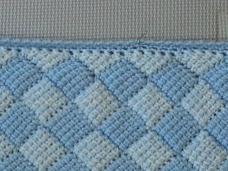 Close-up of Tunisian Crochet Entrelac Stitches My Crochet Work Pinterest