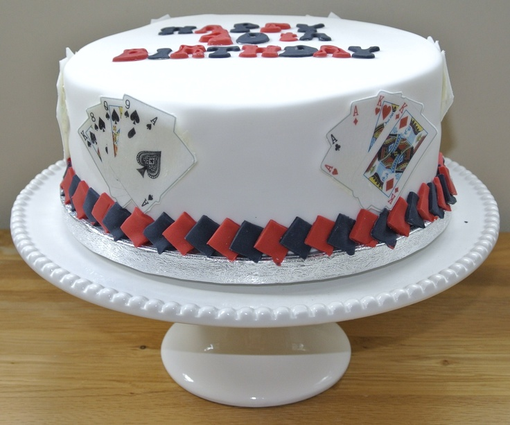 playing card cakes