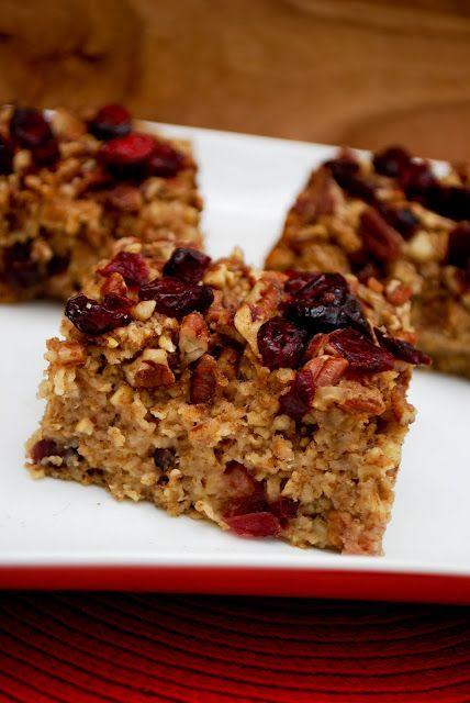 Vegan Apple Pecan Oatmeal Bake | Vegan persuasion | Pinterest