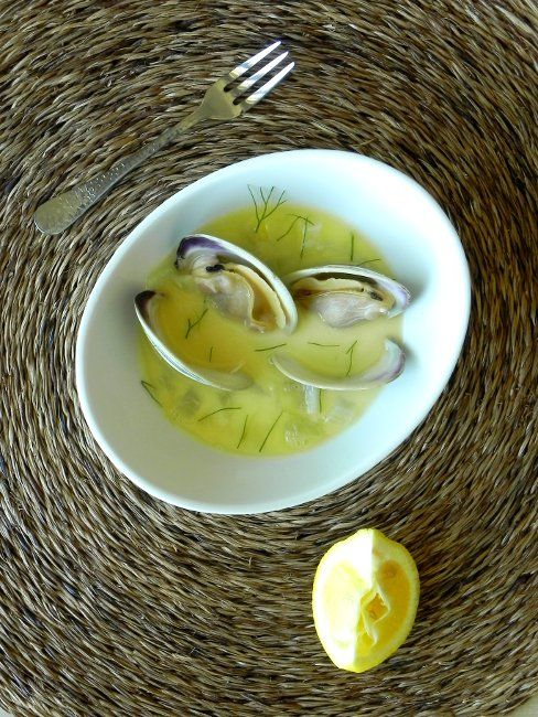 Clams in fennel broth | Dish of Sea Food | Pinterest