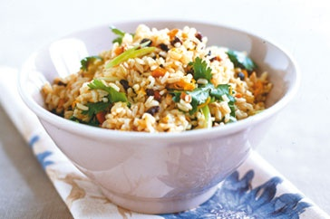 Brown rice salad with cumin and currants | Food | Pinterest