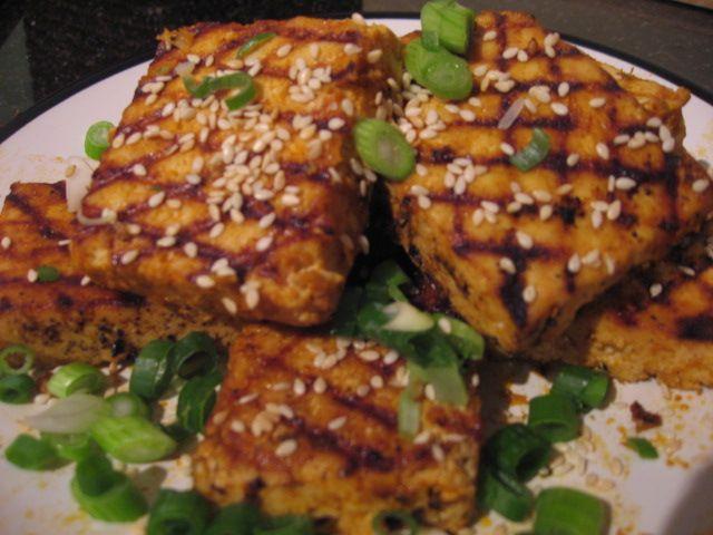 Sriracha-Grilled Tofu recipe | My Other Love: Food | Pinterest