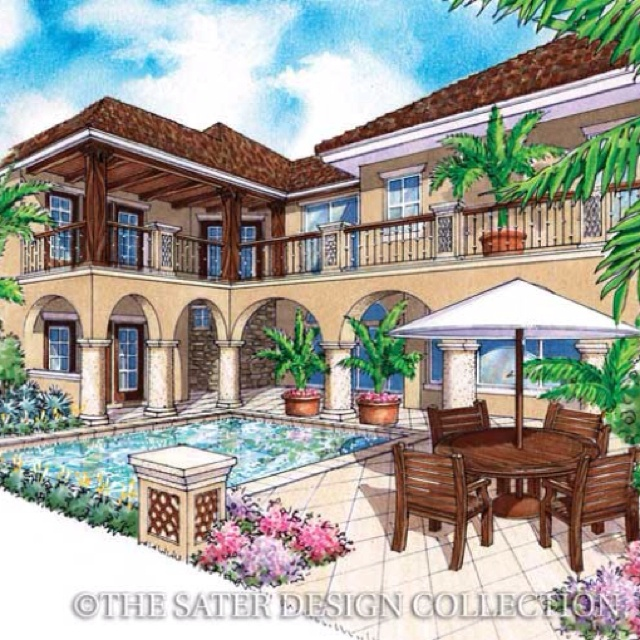 Sater design 39 s 6787 salcito home plan from our courtyard for Sater home designs