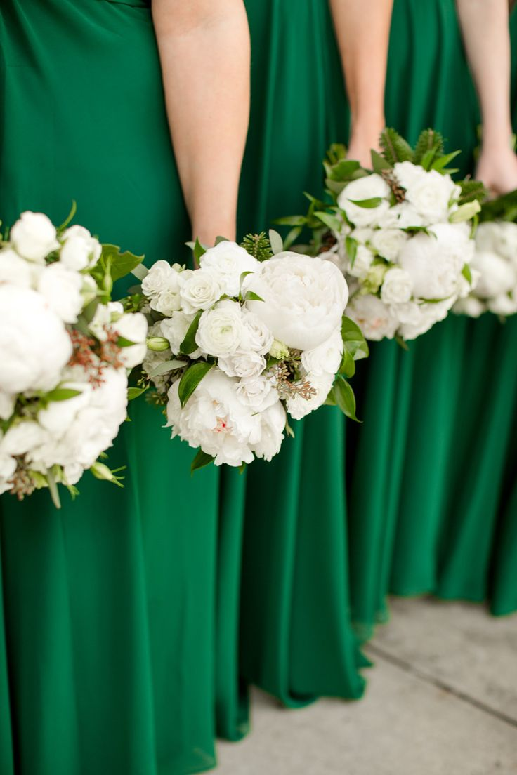 Wedding Flowers To Go With Green Dresses : Katelyn james photography bridal parties