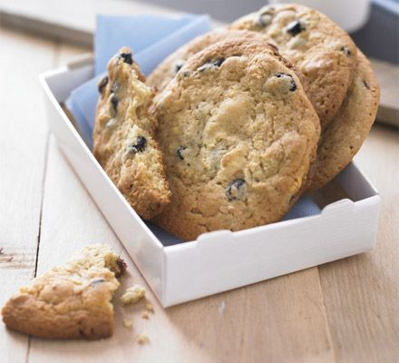 From Momofuku Milk Bar: Blueberry and Cream cookies. You heard it.