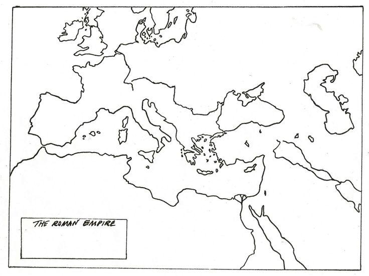 blank map of roman empire | CC History | Pinterest