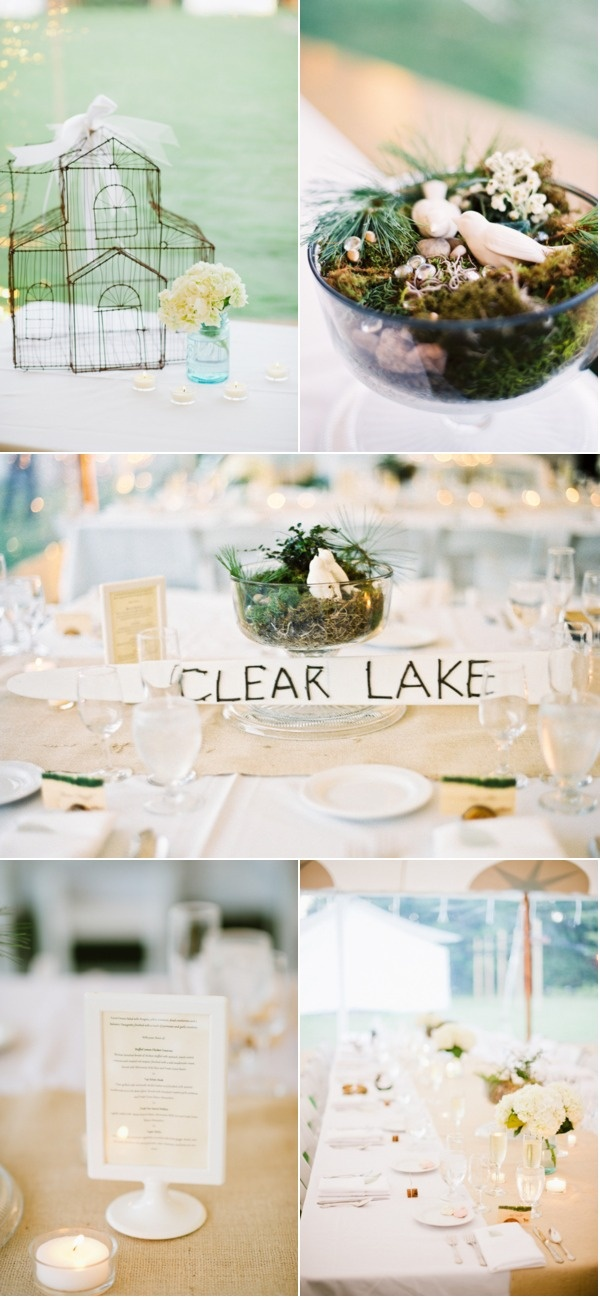 moss table accents