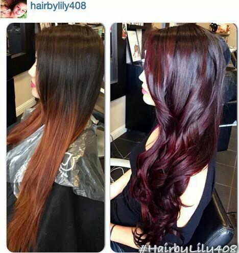 Love the cherry cola hair color | DE RIZOS Y COLORES DE PELOS ...