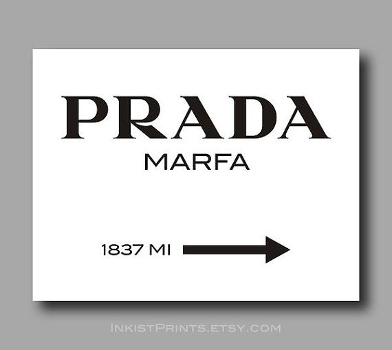 prada marfa print poster gossip girl wall art home. Black Bedroom Furniture Sets. Home Design Ideas
