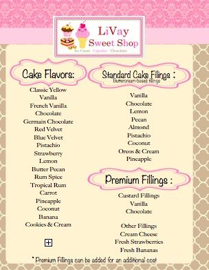 best wedding cake flavors and fillings