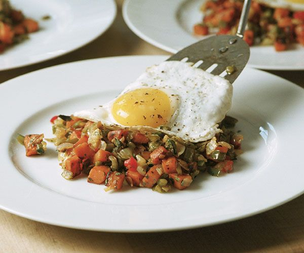 Sweet Potato & Chile Hash with a Fried Egg Recipe. One of my favorites