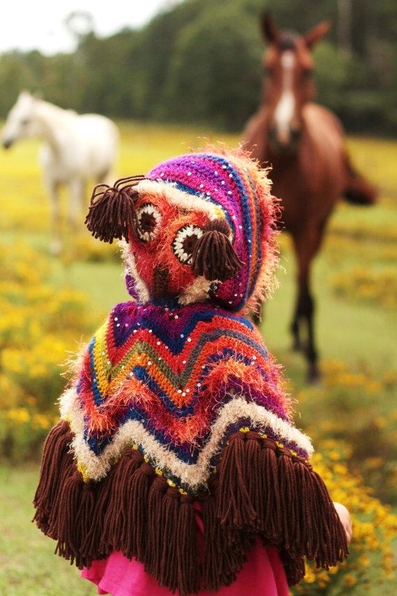 Hooded Owl Poncho for Winnie