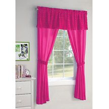 Walmart your zone 5 piece poodle curtain set in lime green