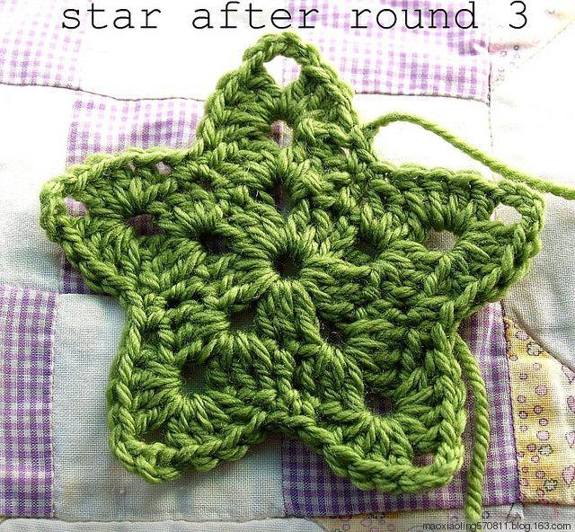 How to make a star, for Christmas. Crochet Pinterest
