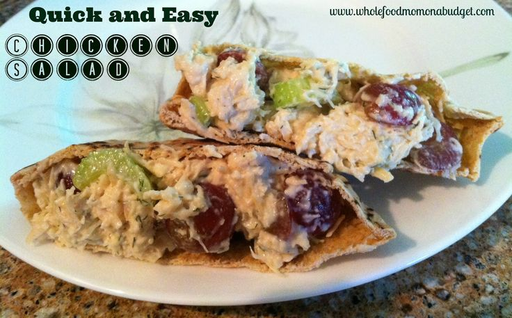 Quick and Easy Chicken Salad | Food | Pinterest