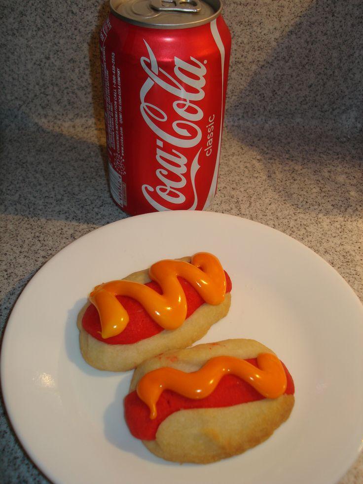 Hot Dog Cookies | Sugar Cookies | Pinterest