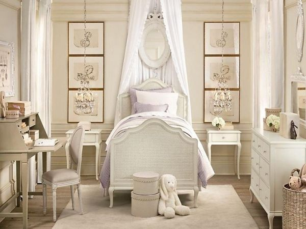 Neutral girls room with antiques girls room pinterest for Elegant neutral bedrooms