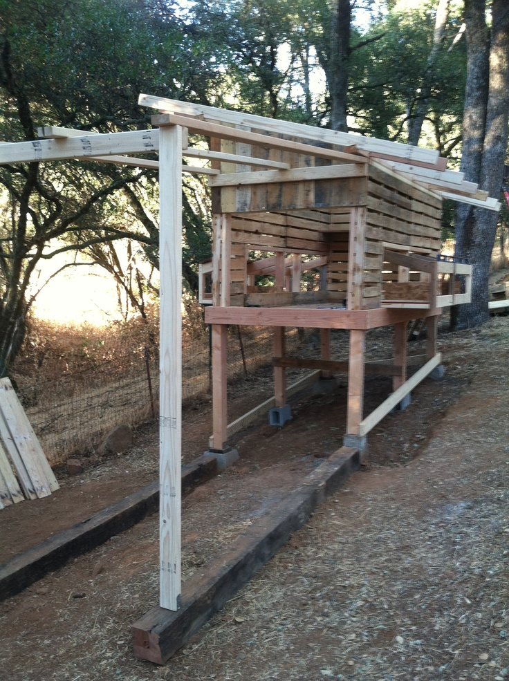 Pallet chicken coop reuse pallets pinterest Chicken coop from pallet wood