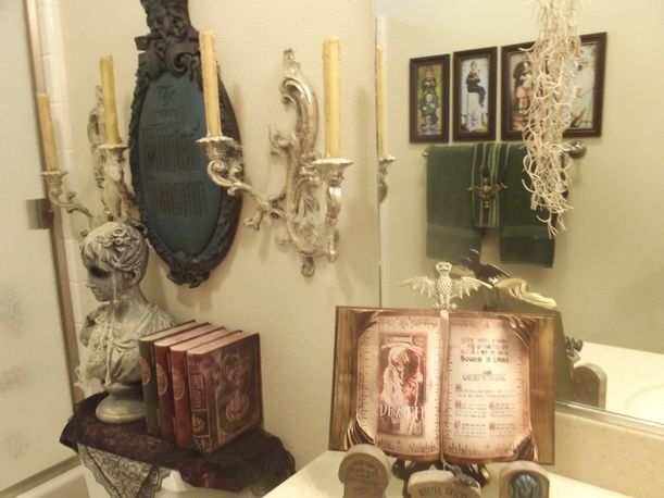 Haunted mansion style bathroom all hallows eve pinterest for Haunted bathroom ideas