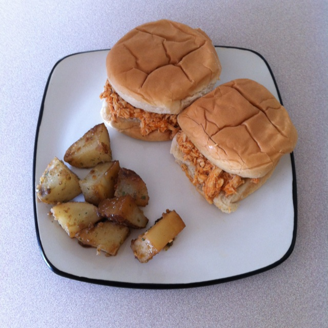 ... Spicy Buffalo Chicken Sandwiches and Garlic & Onion Roasted Potato's