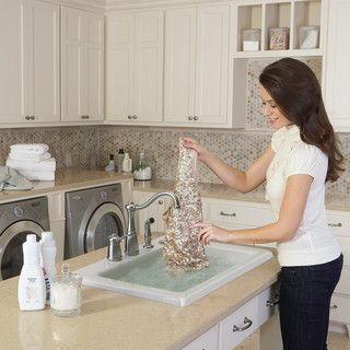 Jetted Laundry Sink : love this jetted sink in the laundry room for delicates!