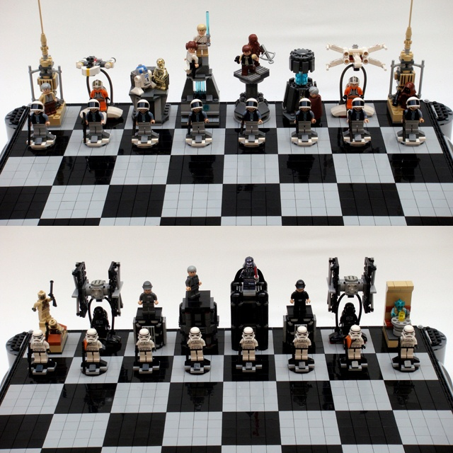 Lego Star Wars Chess Set Awesome Giggles Pinterest