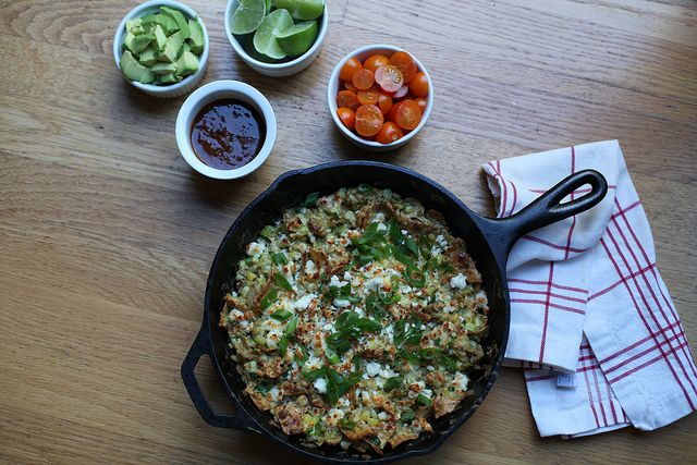 corn and scallion chilaquiles by kristin :: thekitchensink, via Flickr